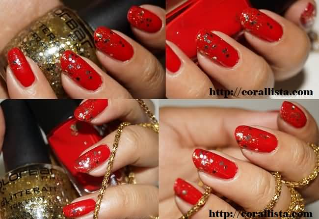 Red And Gold Nail Polish Designs Splendid Wedding Company