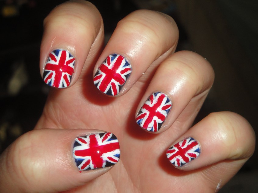 50 most beautiful flags nail art ideas british flag nail art design prinsesfo Image collections