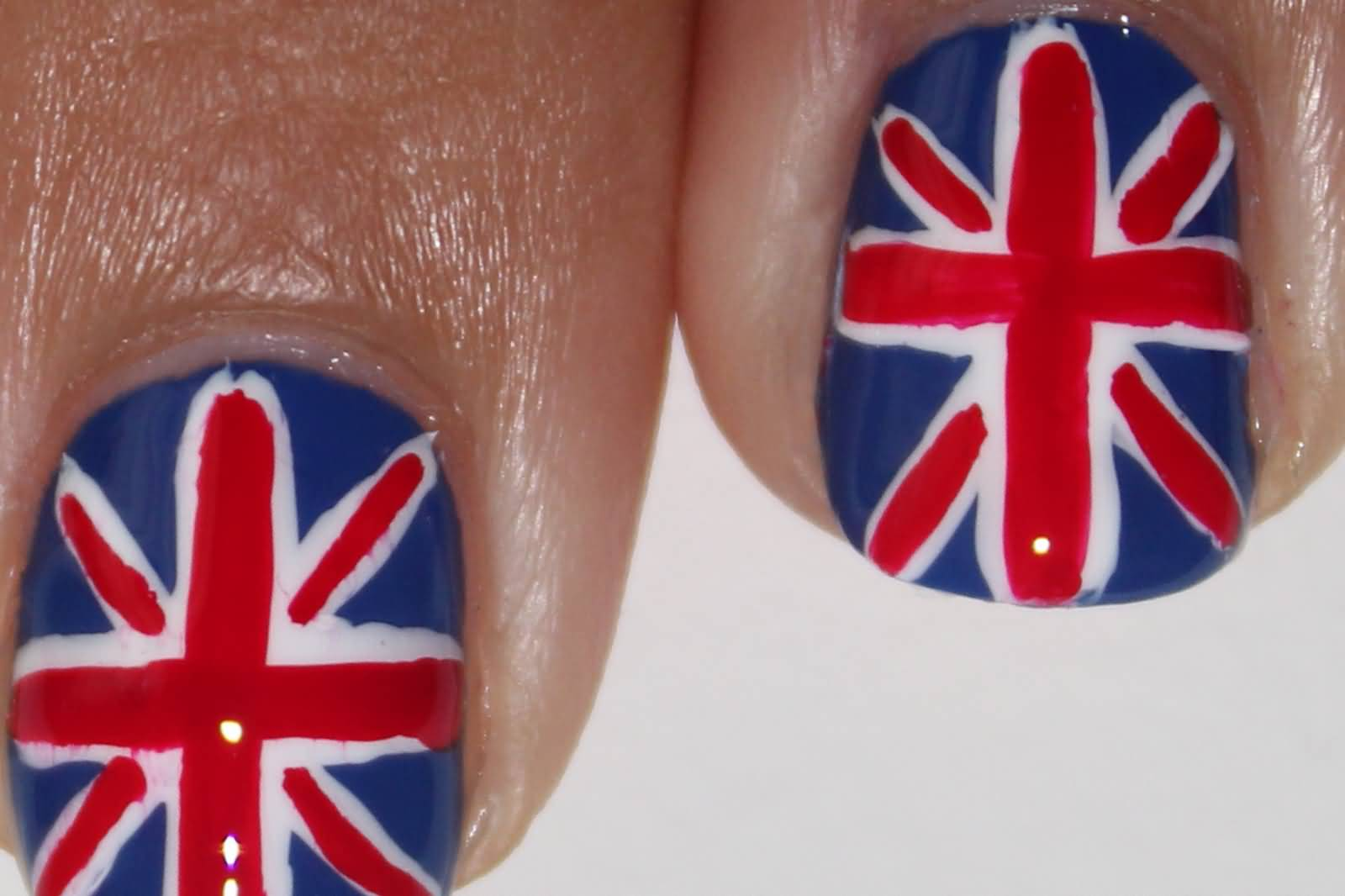 canada flag with maple leaf u0026 beaver nail art with tutorial video