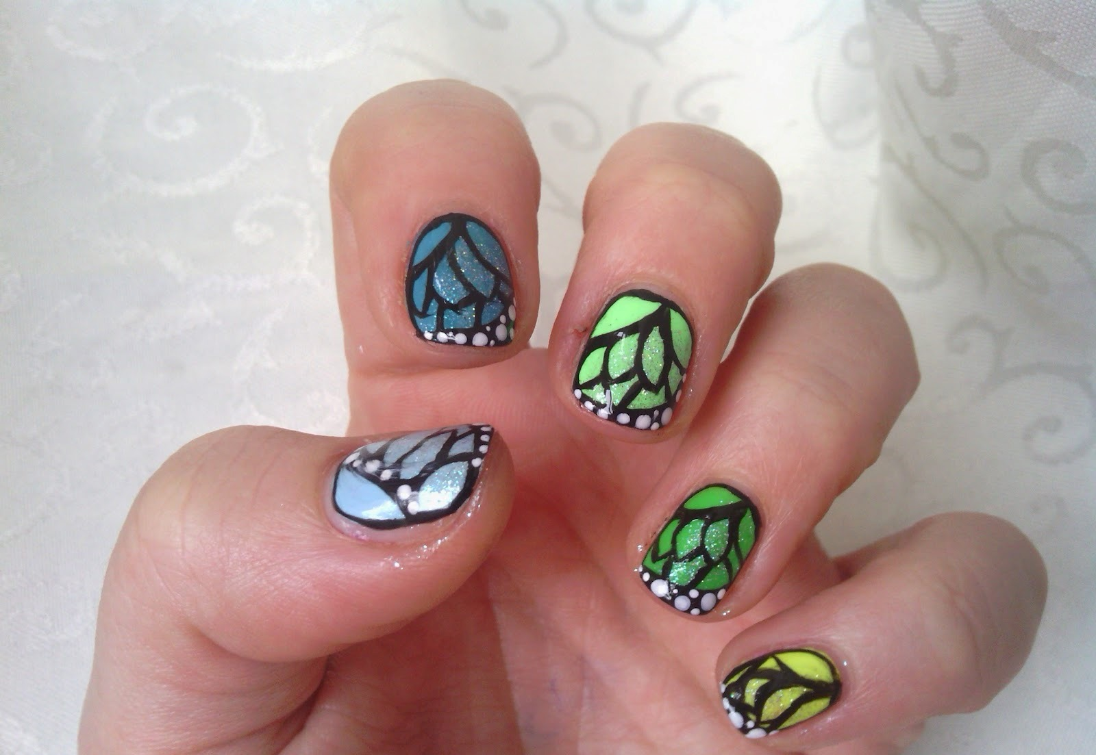 easy nail art designs for short nails - Selo.l-ink.co