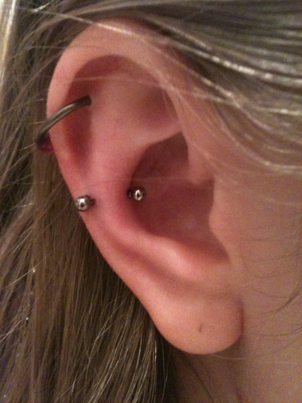 cartilage and snug piercing