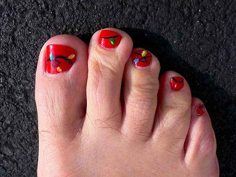 Nail Design For Christmas Toe: Easy christmas toe nail designs ...