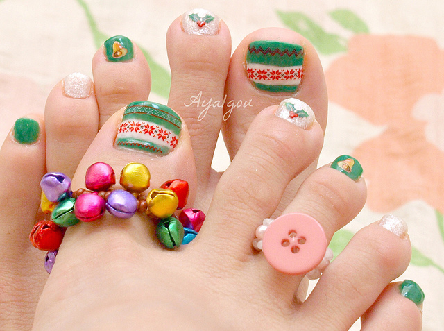Toe Nail Designs Green