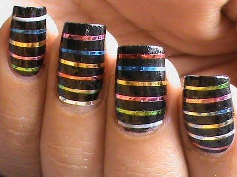 55 best striping tape nail art design ideas colorful striping tape nail art design prinsesfo Images