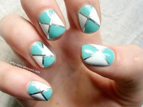 55 Best Striping Tape Nail Art Design Ideas