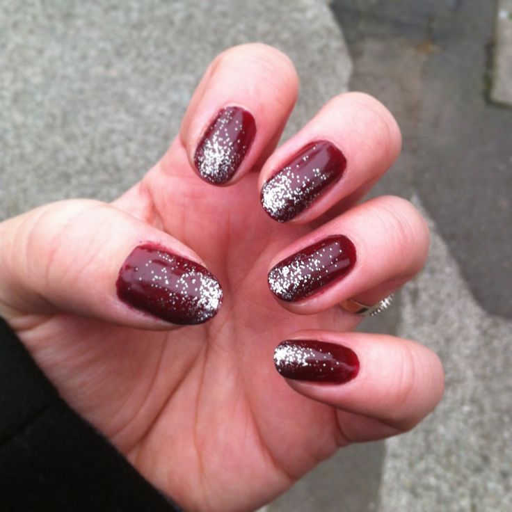 26 Red And Silver Glitter Nail Art Designs Ideas: 40+ Latest Red And Silver Nail Art Design Ideas