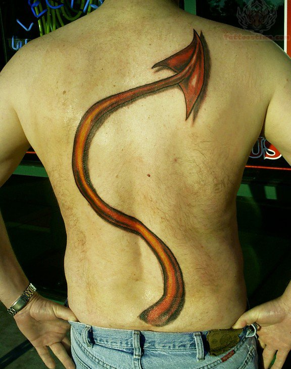 17 awesome tail tattoos on back. Black Bedroom Furniture Sets. Home Design Ideas