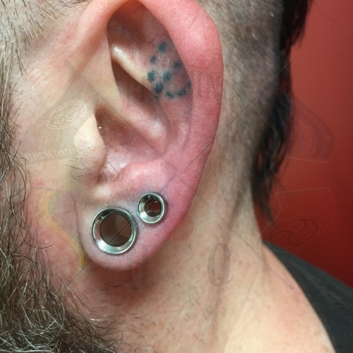 how to clean gauged ears