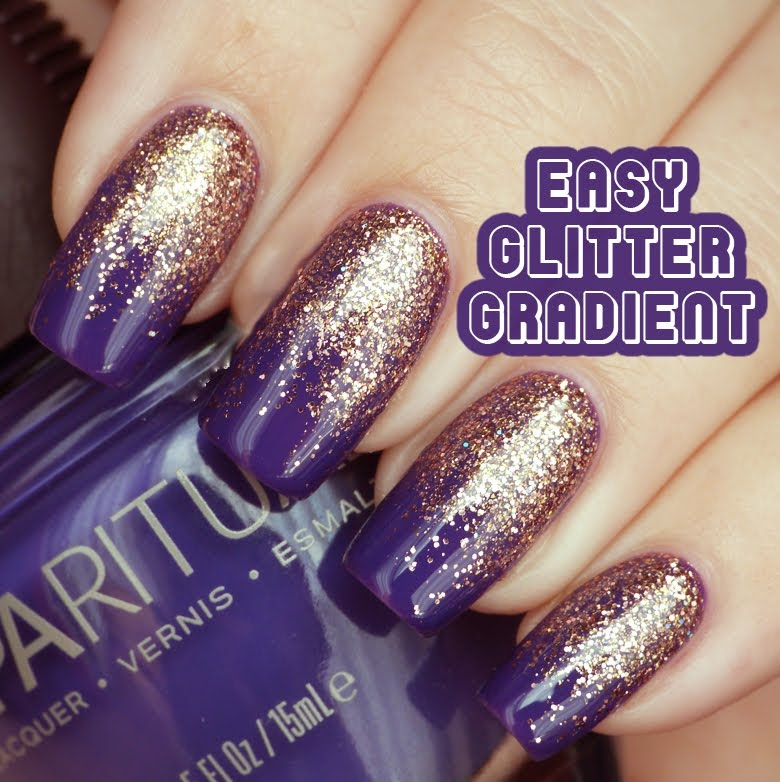 Easy glitter gradient nail art with tutorial video prinsesfo Image collections