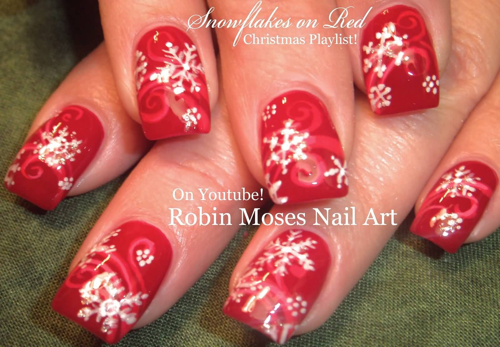 Easy Snowflakes Design Christmas Nail Art Tutorial Video