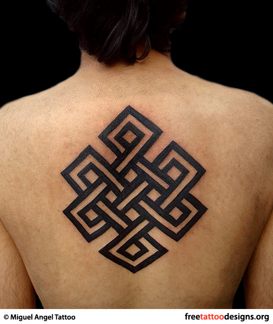 8 Endless Knot Tattoos On Upper Back