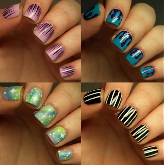 Nails design with bows