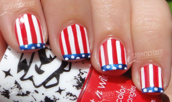 50 most beautiful flags nail art ideas french tip design american flag nail art prinsesfo Gallery