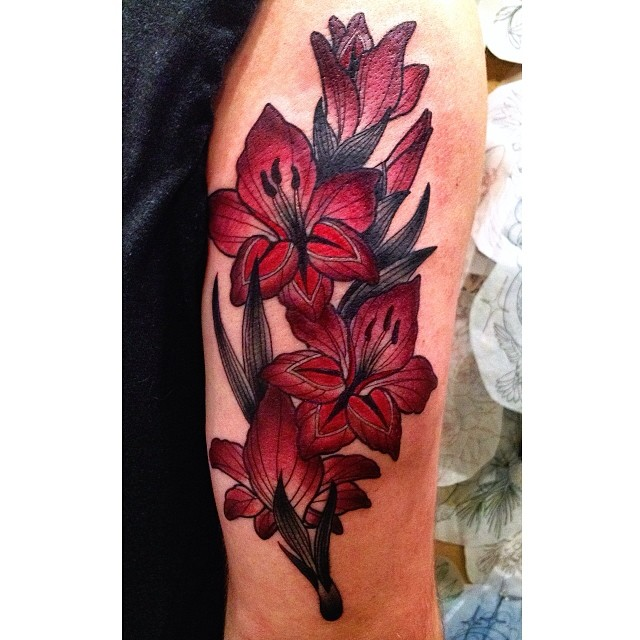 Xvii Tattoo Ideas: 17+ Gladiolus Tattoos Designs