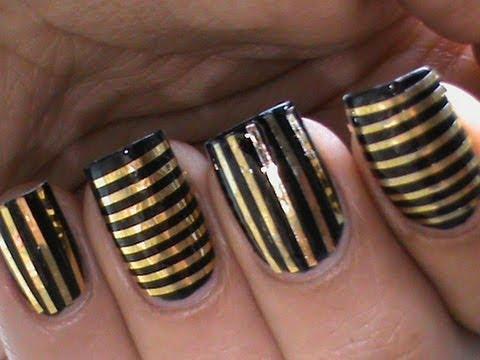 55 best striping tape nail art design ideas gold striping tape nail art design prinsesfo Images