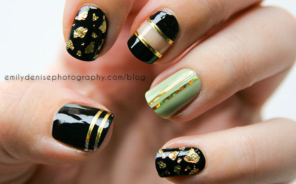 21 most beautiful striping tape nail art ideas for trendy girls gold striping tape nail art design prinsesfo Images