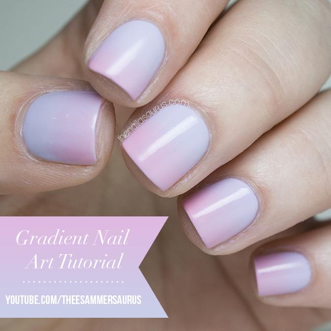 Blue and beige gradient nail art gradient nail art tutorial video prinsesfo Gallery