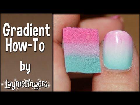 Gradient Nail Art Video Tutorial