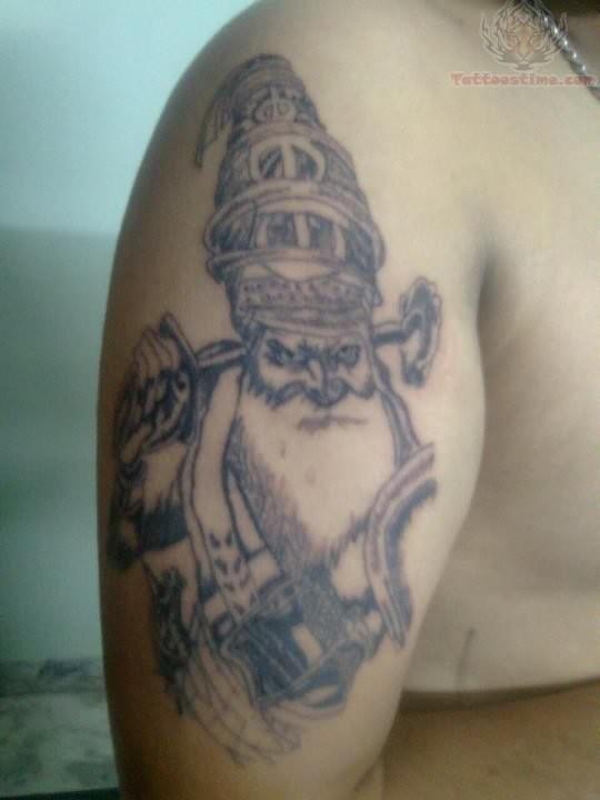 a12453f6d Grey Religious Punjabi Tattoo On Right Half Sleeve