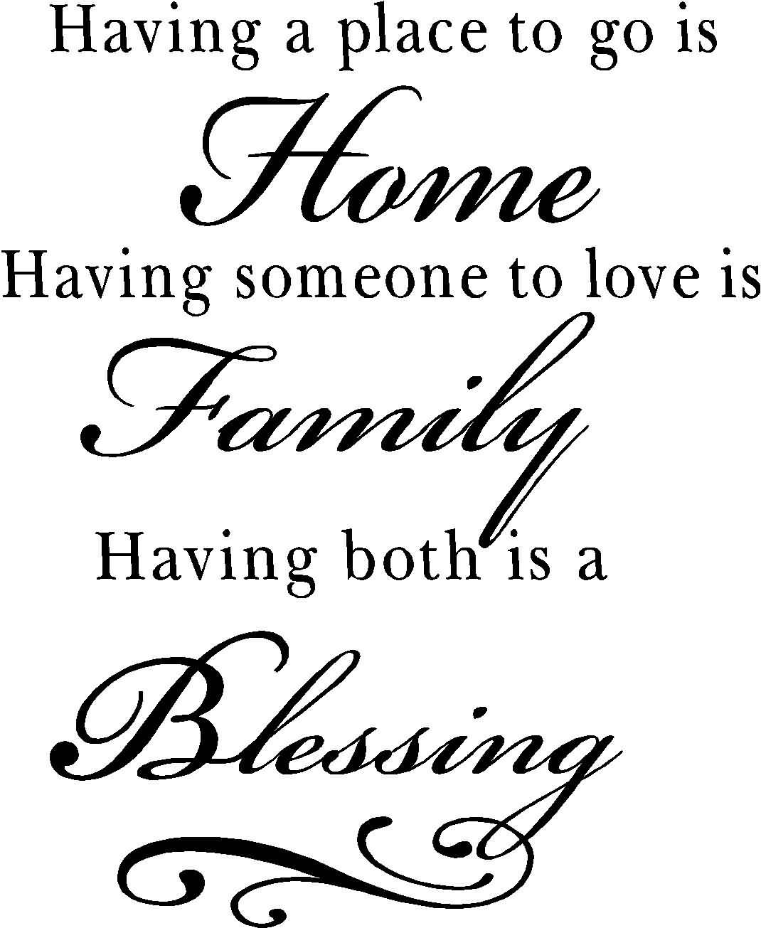 Is A Home. Having Someone To Love