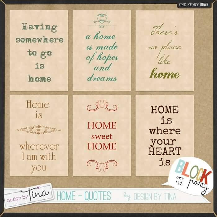 6 Awesome Home Quotes Collage