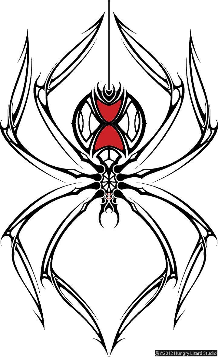 20+ Black Widow Tattoo Designs
