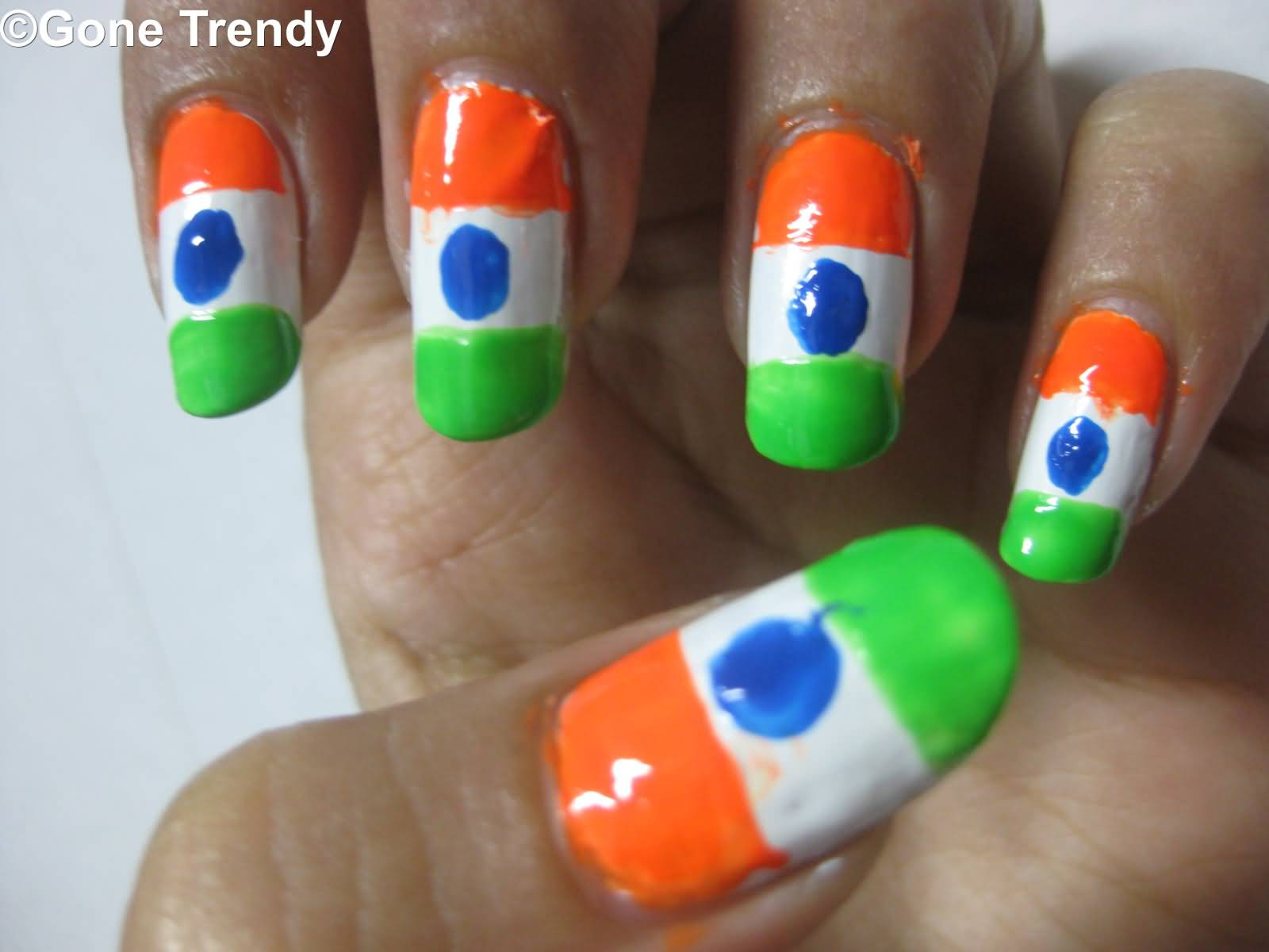 50 most beautiful flags nail art ideas indian flag nail art prinsesfo Gallery