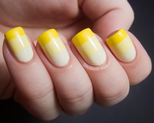 Light Yellow Nail Art Design