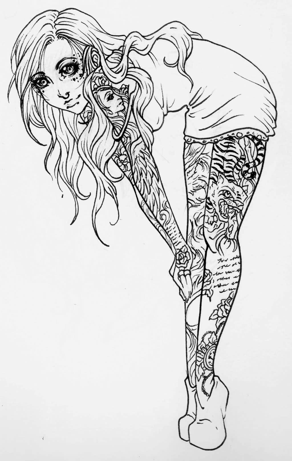 Tattoo pin up girls designs - Lovely Pin Up Girl Tattoo Design By Jessicacanvas