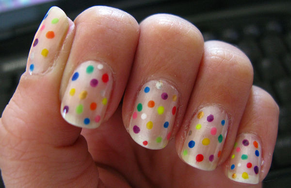 50 most stylish short nail art design ideas neon dots short nail art prinsesfo Gallery
