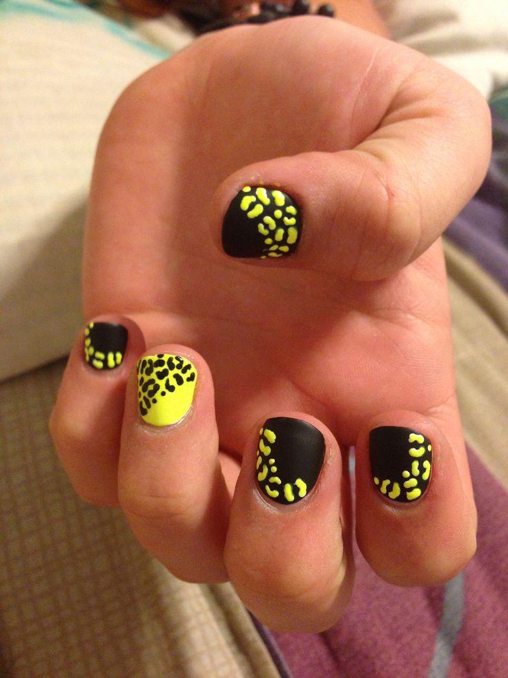 Luxury Black And Neon Nails Adornment - Nail Art Ideas - morihati.com