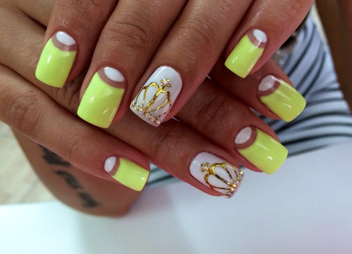 35 Yellow And White Nail Art Design Ideas