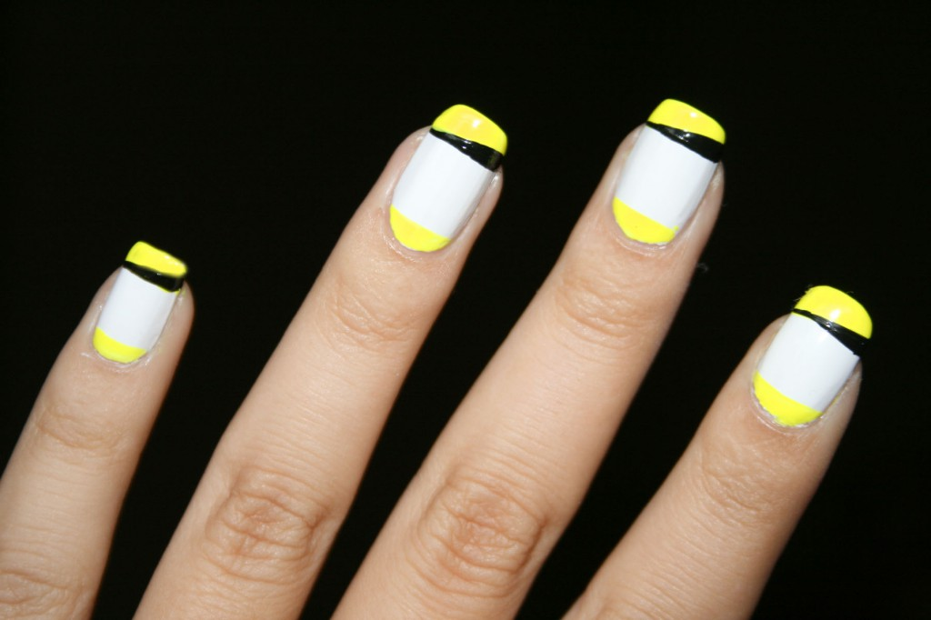 35+ Yellow And White Nail Art Design Ideas