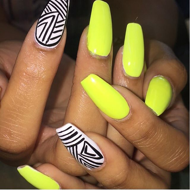 Neon Yellow Nail Art - 70 Trendy Neon Yellow Nail Art Design Ideas