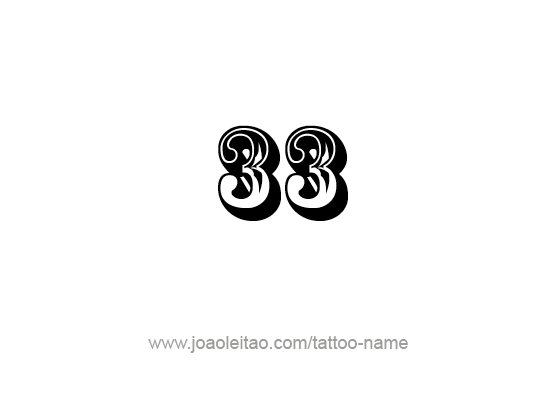 25 Number Tattoo Designs