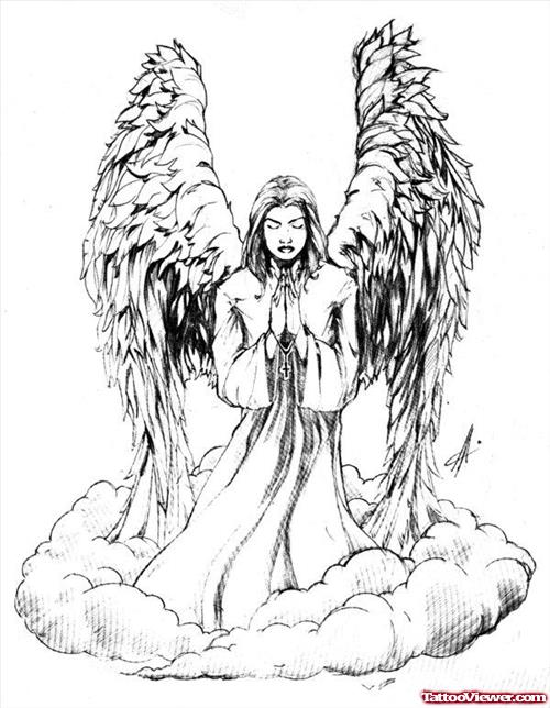 12+ Praying Angel Tattoo Designs