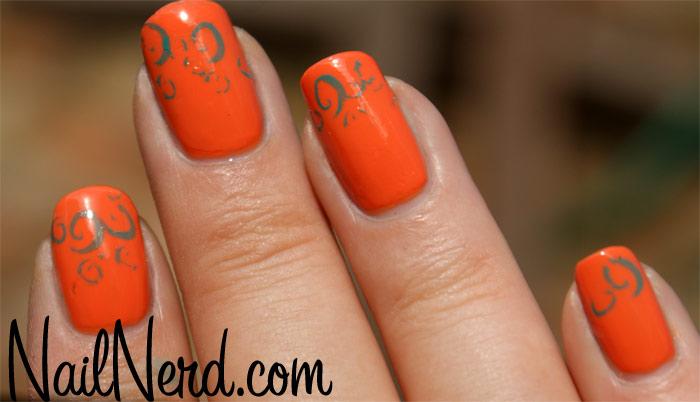Orange Inspired Nail Art