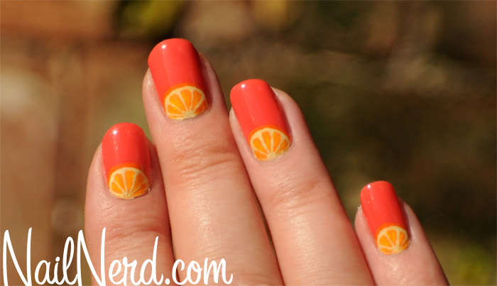 - Orange Nail Art Design