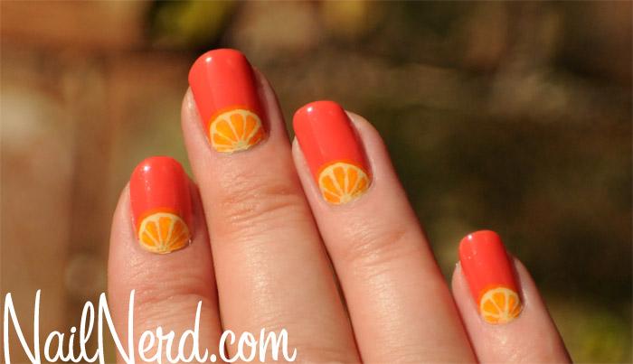 Orange Nail Art Design