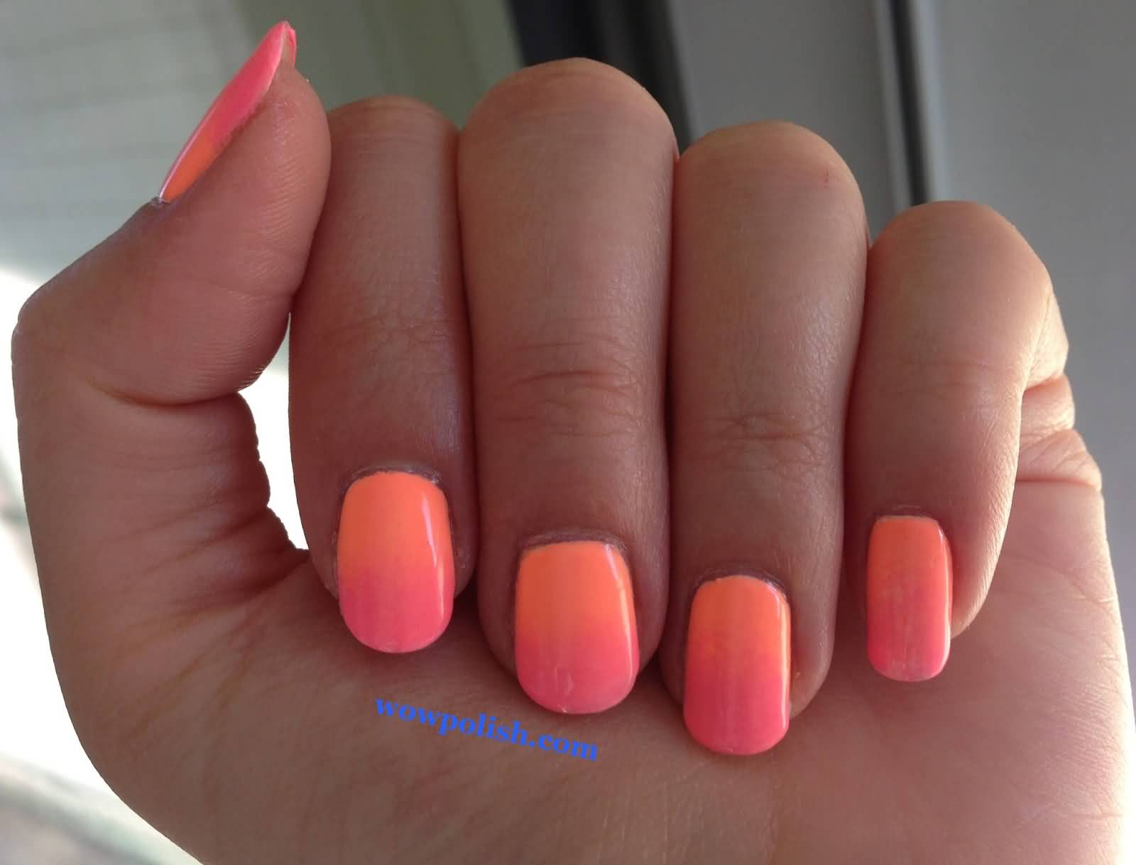 Nail art designs with peach a spring trend that you should try nail art designs with peach classy gradient nail art designs prinsesfo Images