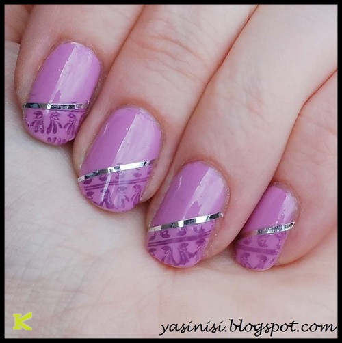 Patterns Using Tape Nail Art: 21 Most Beautiful Striping Tape Nail Art Ideas For Trendy