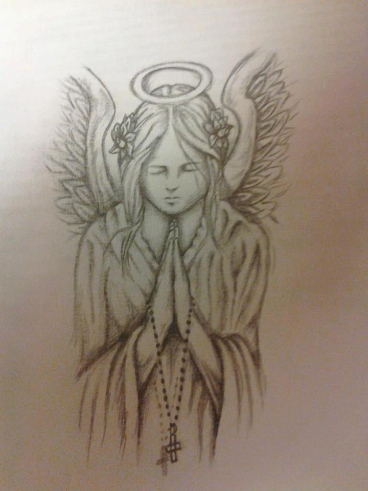Praying Angel Sketches | www.pixshark.com - Images ...