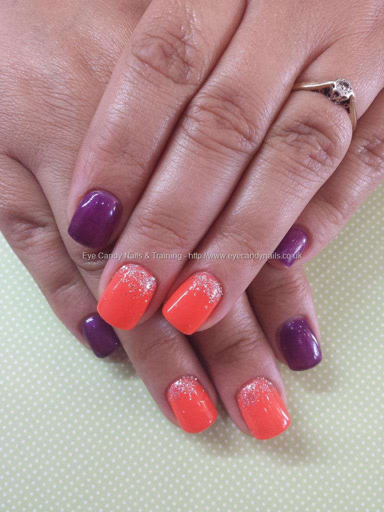 30 Most Beautiful Orange And Purple Nail Art Designs