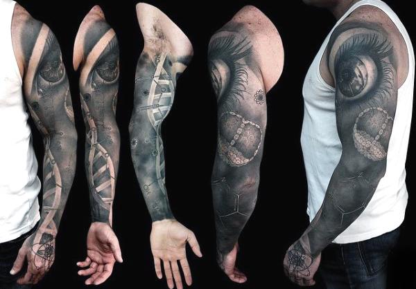 60 Science Tattoos On Sleeve