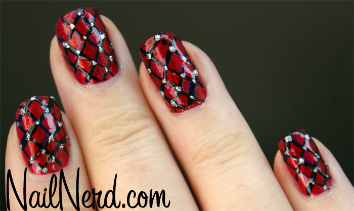Red black silver nail designs choice image nail art and nail red silver nail art images nail art and nail design ideas red and black nail art prinsesfo Image collections