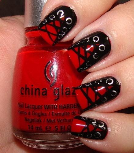 50 most beautiful red nail art design ideas. Black Bedroom Furniture Sets. Home Design Ideas