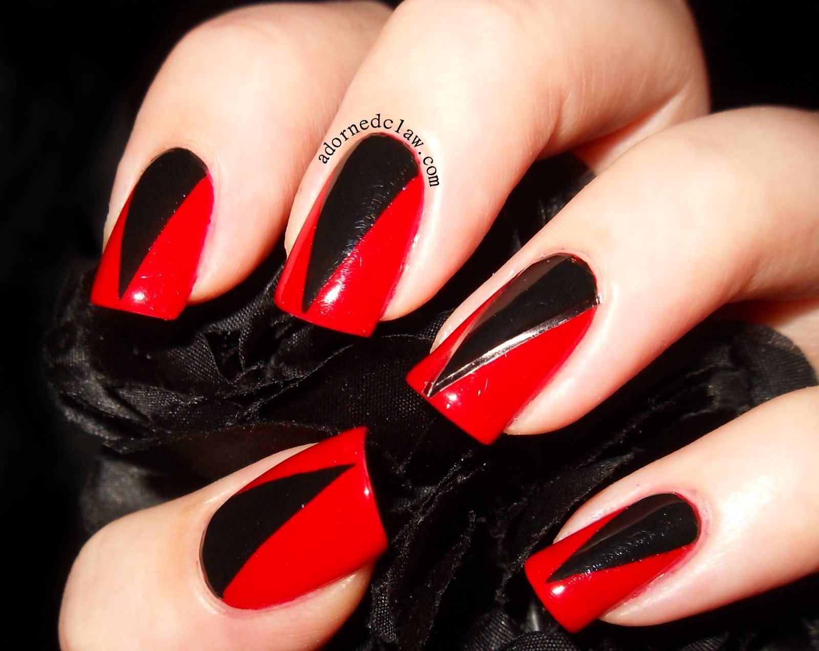 67 best red nail art design ideas. Black Bedroom Furniture Sets. Home Design Ideas