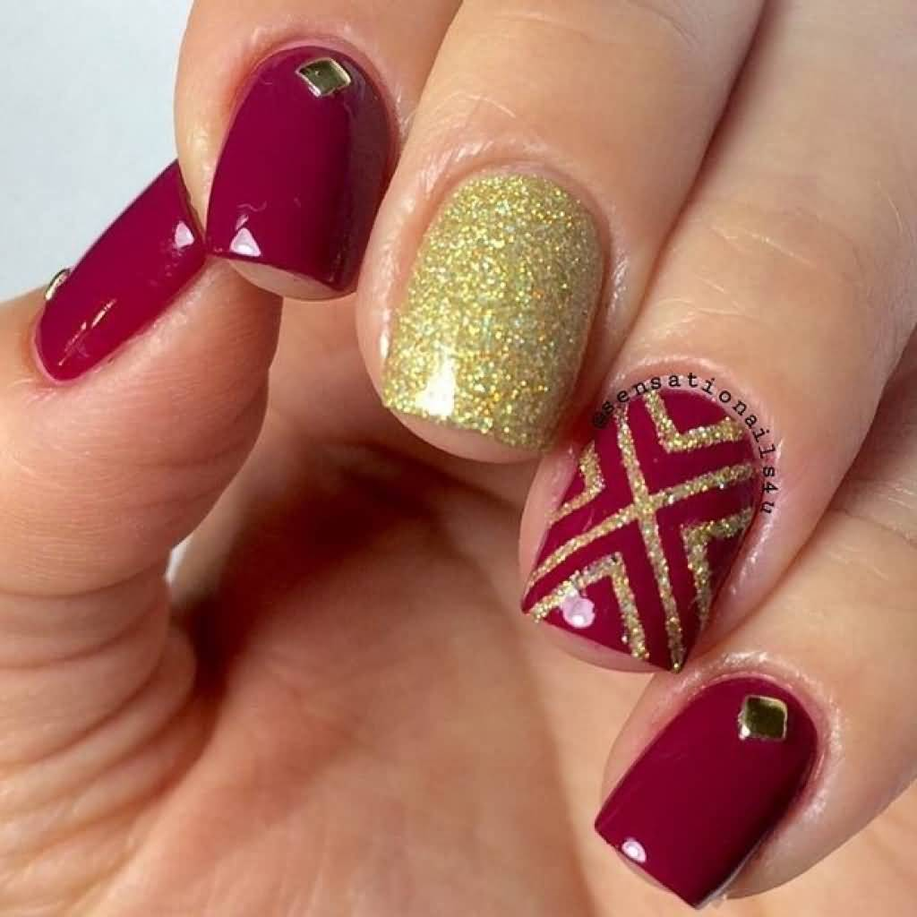 Red Nail Art: 67 Best Red Nail Art Design Ideas