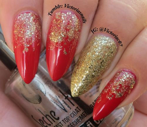 Nail Art Designs Red And Gold The Best Inspiration For Design And