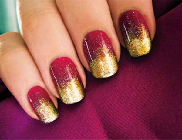 Red And Gold Nail Art - 52+ Red And Gold Nail Art Designs For Trendy Girls